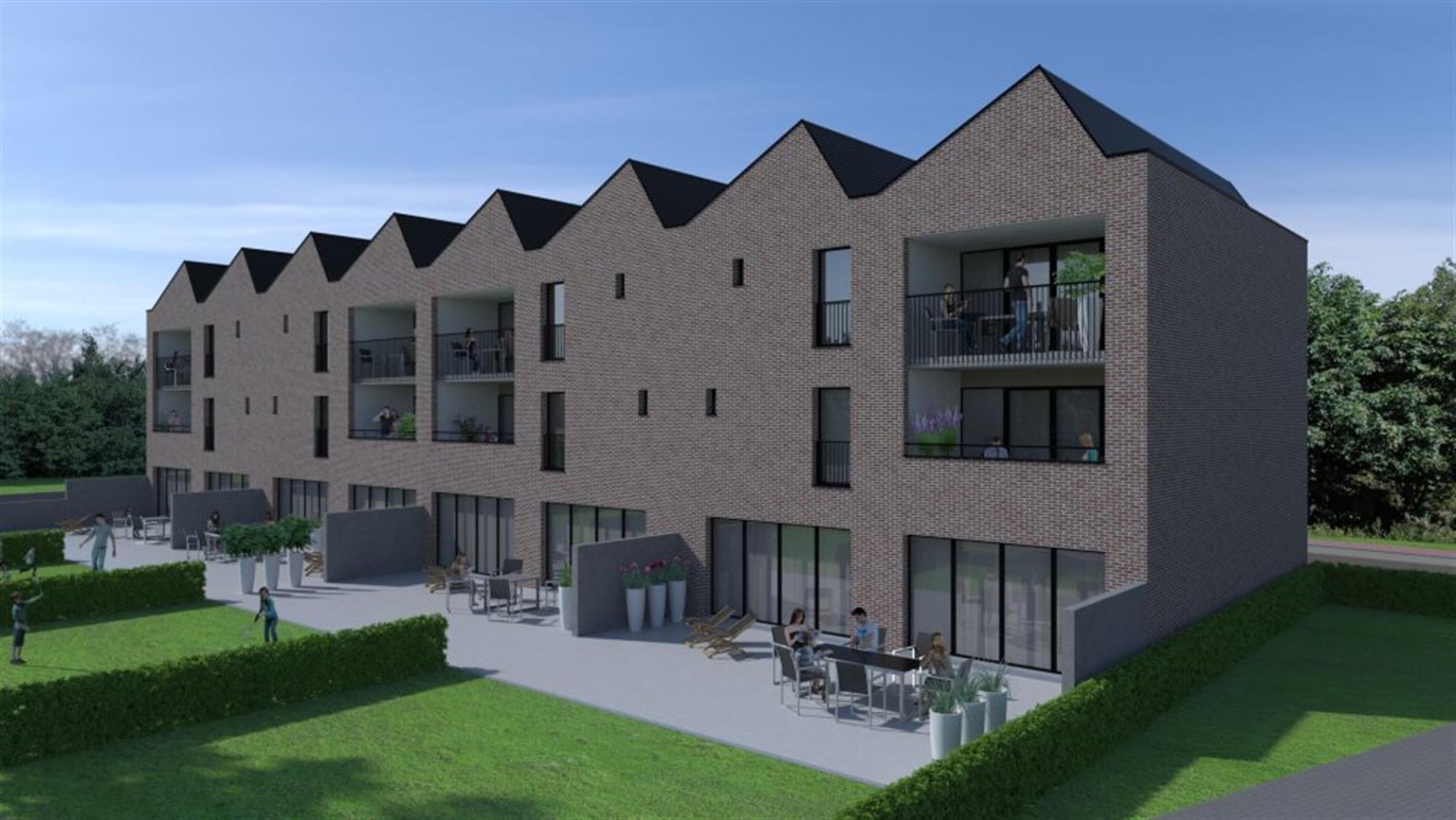 Superbe appartement avec terrasse de 60m² et jardin privatif de +/- 200m²